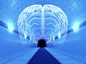 Brain in Tunnel,psychological state