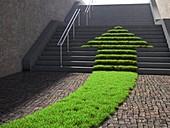 Urban ecology,conceptual artwork