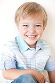 Smiling four year old boy