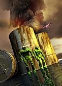 Military robots,artwork