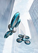 Nano spy drones,artwork