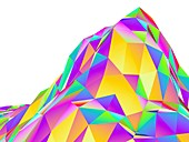 Abstract landscape of polygons
