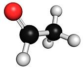 Acetaldehyde molecule,chemical structure
