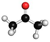 Acetone solvent molecule