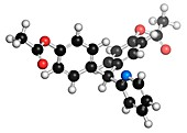 Bisacodyl laxative drug molecule