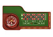 Roulette table,illustration