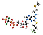 Cangrelor antiplatelet drug molecule