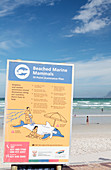 Beached marine animal information sign