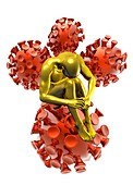 Person with aids,illustration