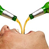 Person drinking alcohol