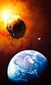 Deflecting a near-Earth Asteroid