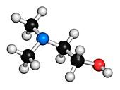 Dimethylaminoethanol molecule