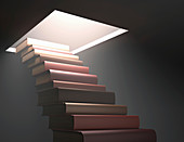 Books making steps,illustration