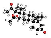 Medroxyprogesterone acetate drug molecule