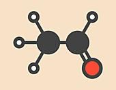 Acetaldehyde molecule