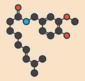 Capsaicin chili pepper molecule