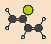 Chloroprene molecule