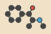 Ephedrine herbal stimulant molecule
