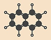 Naphthalene aromatic hydrocarbon molecule