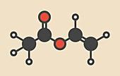 Vinyl acetate molecule