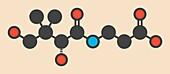 Vitamin B5 molecule