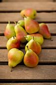 Guyot pears,high angle view