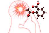 Headache,illustration