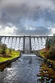 Claerwen Reservoir Dam,Elan Valley
