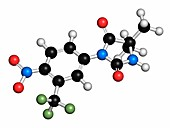 Nilutamide prostate cancer drug molecule