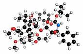 Cabazitaxel cancer drug molecule