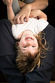 Girl being tickled,laughing