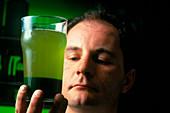 Biocoil: Chlorella algae examined by Stephen Skill