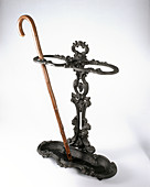 Cast iron Victorian walking stick stand