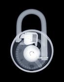 Combination padlock,X-ray