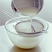 Making custard