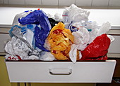 Plastic bags in drawer
