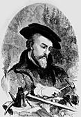 Portrait of Georgius Agricola,German mineralogist