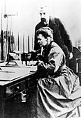 Marie and Pierre Curie,French physicists