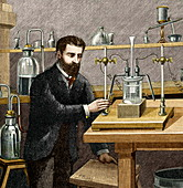 Moissan isolating fluorine,1886