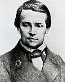 Portrait of microbiologist Louis Pasteur,aged 20