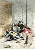 Ball lightning kills Richmann,1753