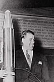 German-US rocket engineer,Wernher von Braun