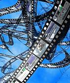 Photographic film,computer artwork