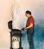 Barbecue,Schlieren image