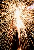 Time exposure of a sparkler firework