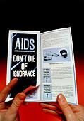 UK government AIDS information leaflet