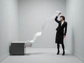 Office stress,conceptual image