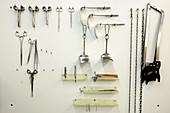 Instruments for autopsy examinations