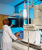 Barium enema examination