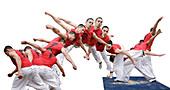 Twisting jump